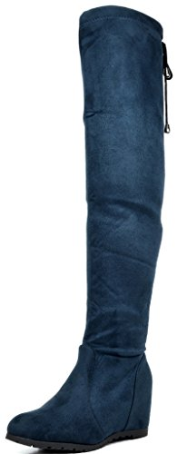 Image of DREAM PAIRS Women's Over The Knee Thigh High Stretch Boots