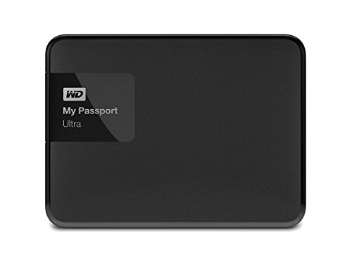 WD 3TB Black My Passport Ultra Portable External Hard Drive - USB 3.0 - WDBBKD0030BBK-NESN [Old Model] by Western Digital