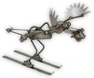 Skiing Aggressive Moose Yardbirds Richard Kolb ()