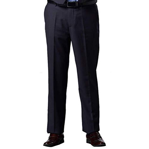 Casual Antirughe Anteriore Herren Pantaloni Natale Size Di Piatto Regolari Lavoro Vintage Vestito Scuro Ringraziamento E Regalo Blu Mens Man King rqxYFwYIE