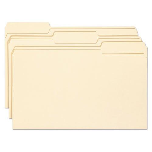 Smead 15338 Antimicrobial File Folders 1/3 Cut Top Tab Legal Manila 100/Box