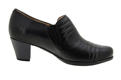 Piesanto Modelo 5452 - Zapato señora piel, confort, pies delicados, plantilla extraíble, anchos especiales, zapatos cómodos negro