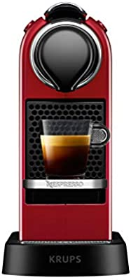 Nespresso Krups Citiz XN7415 - Cafetera monodosis de cápsulas Nespresso, compacta, 19 bares, apagado automático, color granate