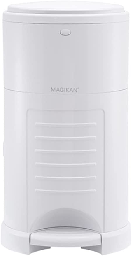 Magikan Diaper Bin for Baby and Adult Diaper Pail 9L 2.4gal 304oz with 1 Refill Odor Free (White)
