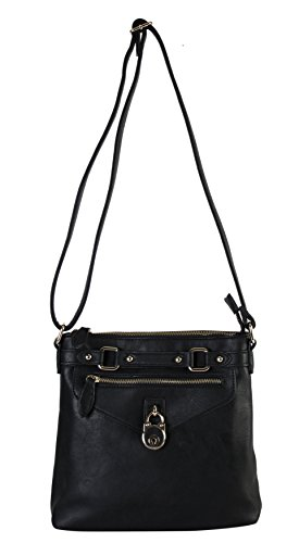 diophy-casual-front-lock-dual-compartments-crossbody-messenger-style-handbag-purse-my-2402-black