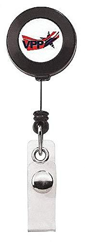 Retract Belt - Badge Hldr, Retract, Belt Clip, Blue, PK50