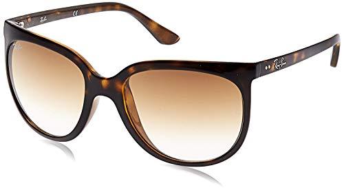 Ray-Ban RB4126 Cats 1000 Cat Eye Sunglasses, Light Havana/Brown Gradient, 57 mm (Ray-ban Erika Braun)