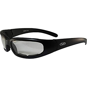e42179e79ac8b Chicago Photochromic Light Adjusting Padded Motorcycle Sunglasses By Global  Vision