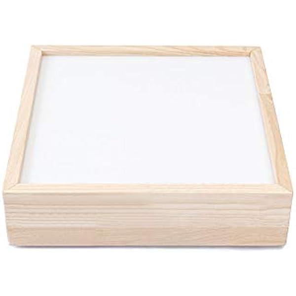 Ticumiku Mesas de luz Montessori led RGB Madera de castaño con ...