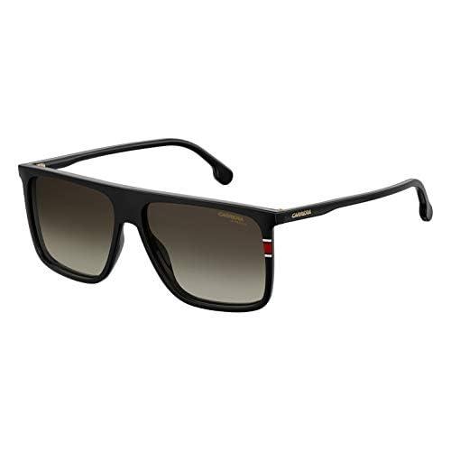 Carrera Men's 0807 Black/Brown Gradient Lens Rectangular Men's Sunglasses, 58MM