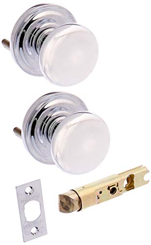 Baldwin PSROUTRR260 Reserve Passage Round with Traditional Round Rose in Bright Chrome Finish