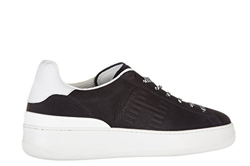 Hogan Rebel Chaussures Baskets Sneakers Homme en Cuir Pure 86 Allacciato Blu