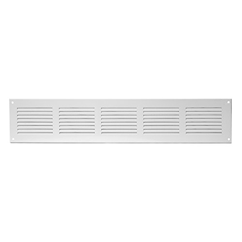 mr4015 Europlast Air Vent Grille Cover 400x150mm White Ventilation Cover 15 x 5inch Metal with Insect Protection
