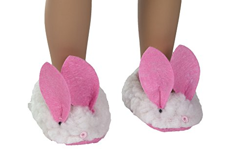 Springfield Collection Bunny Slippers-White and Pink