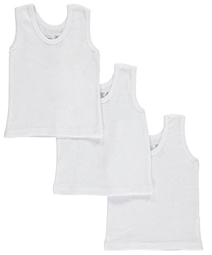 Bambini Unisex Baby 3-Pack Tank Tops - white, 6 - 9 months