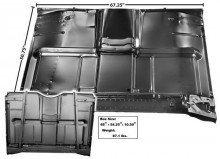 Amazon com: 68 69 70 71 72 Chevy Truck Floor Pan with Brace