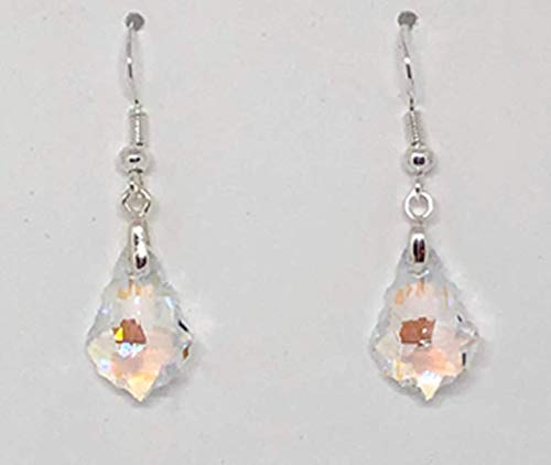 Swarovski Earrings, Pink Earrings, Pink Crystal Earrings, Aurore Boreale Briolette Earrings