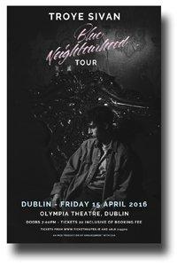 Troye Sivan Poster - Concert Blue Neighbourhood Tour Dublin