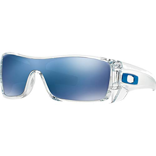 Oakley Batwolf Men's Lifestyle Casual Wear Sunglasses - Clear/Ice Iridium/One Size Fits All - Polarized Lens Lifestyle Sunglasses