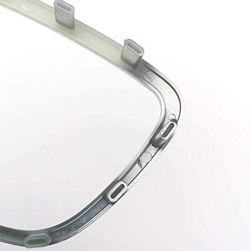 Garniture de Couvercle de Volant D/écor Embl/ème Logo Cadre Autocollant Accessoires pour A3 S3 8V A4 B8 B9 A6 C7 Q3 Q5 Q7 Chrome Argent Mat