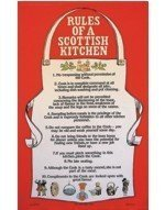 100% Cotton Scottish Tea / Dish Towel - 'Rules Of A Scottish