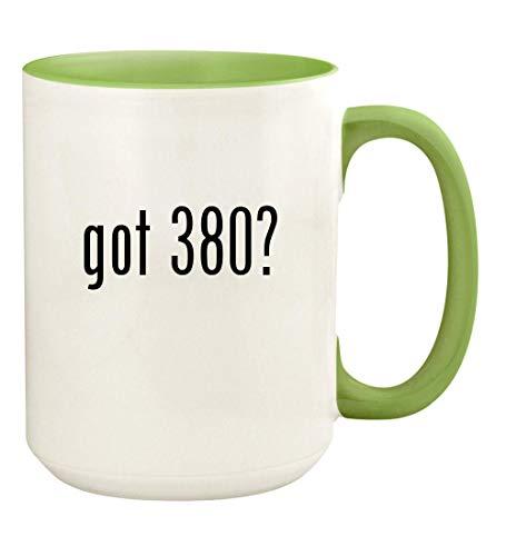 got 380? - 15oz Ceramic Colored Handle and Inside Coffee Mug Cup, Light Green