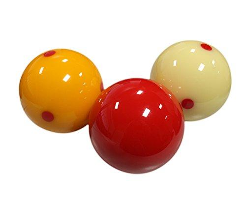 Aramith 61.5 mm Super Armith Pro Cup Carom/Carambole Billiard/Pool Balls, Complete 3 Ball Set