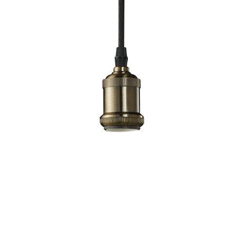 (Bulbrite NOS/PEND/BARE-PW Vintage 1-Light Brass Bare Socket Mini Pendant, Pewter Finish by Bulbrite)