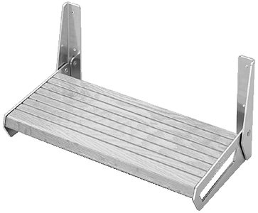 Garelick 26115 White Polymer Footrest by Garelick