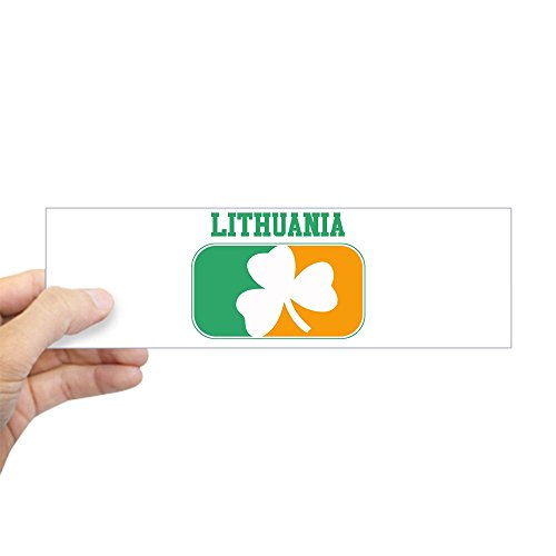 CafePress Lithuania Irish Bumper Sticker 10