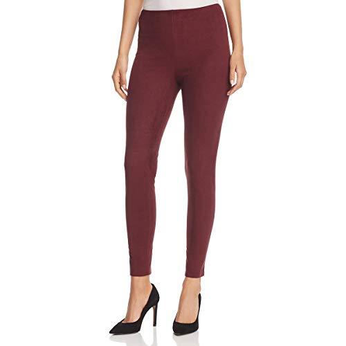 Lyssé Women's Hi Waist Suede Legging, Currant, XL -