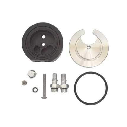 Powerstroke Diesel Parts Fuel Tank Gas//Diesel Integrated Return Dual-Port Sump Kit with Extra Brass Fittings for Airdog or FASS for Cummins Duramax