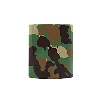 military camo camouflage pattern print 11 oz travel heat sensitive color changing coffee mug tea cup