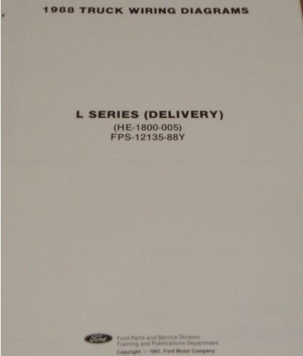 1988 FORD L-SERIES L700 L800 L8000 Electrical Wiring Diagram Manual Sheet OEM