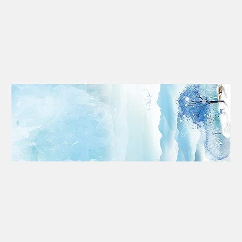 Yoga Mat Female Professional Yoga Fitness Pilates Mat Exercise Mat Natural Rubber, Double Anti-Skid, Strong Sweat Absorption, Beautiful Printing, Size  183cmX61cm (color   Dreamy, Size   6mm)