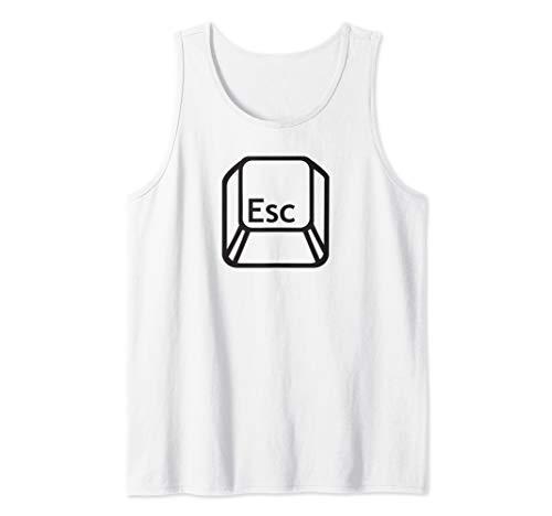 ESC Escape Key - Nerdy Computer Comp Sci, Coding, Techie Tank Top