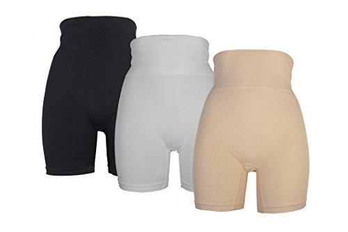 RUFINA Women's Seamless Shapewear Girdle Thigh Slimmer Short Firm Control (Firm Control Top)