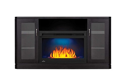 Cheap Napoleon Crawford Electric Fireplace TV Stand in Gloss Black Finish Black Friday & Cyber Monday 2019