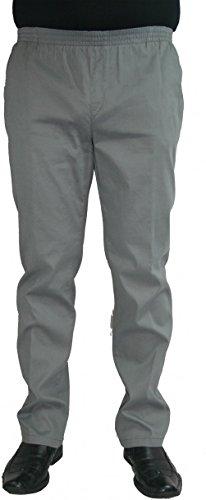 Herren Jeans Stretch Schlupfhose Amberg 28-4015/02 grau mit Struktur
