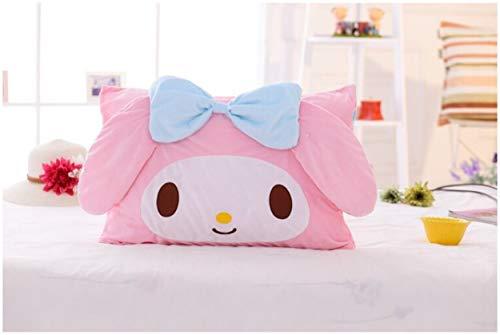 Peachy Baby With My Melody - Funda de Almohada, diseño de niña, Color Rosa, A with Big Bow, 60cm x 40cm