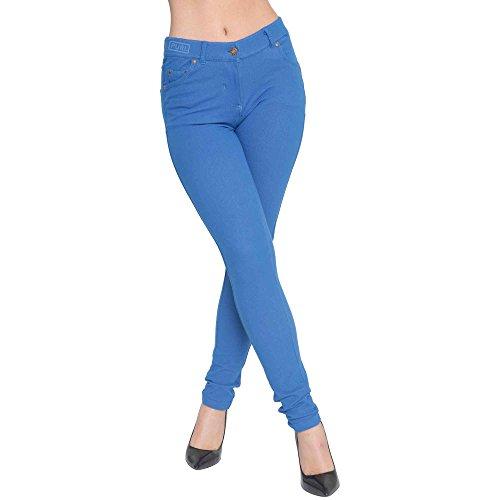 Coupe Femmes Extensible Color Superglamclothing Bleu Marine Jeggings Mince Jean tqwS7