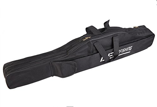 Toasis Fishing Rod Carrier Bag Fishing Pole Carrying Case for Travel Black Color (3.28Ft/1M)