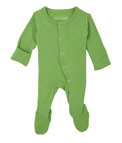L'ovedbaby Unisex-Baby Organic Cotton Footed Overall (9-12 Months, Moss) ()