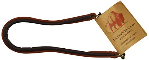 "Classic Padded Semi Choke Leather Dog Collar Size: 1/2"" W x 13 3/4"" L, Color: Brown"