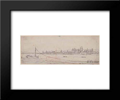 Wenceslaus Hollar - 18x15 Framed Museum Art Print- View of Lahnstein on The River Rhine (Rhine Framed River)