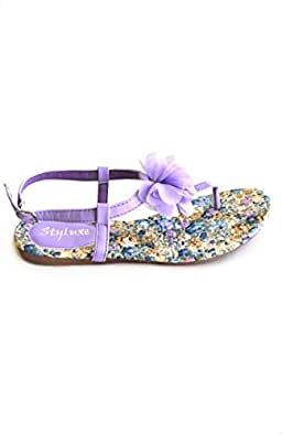 Hipster Purple Flat Sandal For Women