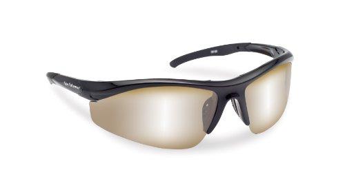 Mirror Amber (Flying Fisherman Spector Polarized Sunglasses (Black Frame, Amber/Silver Mirror Lenses))