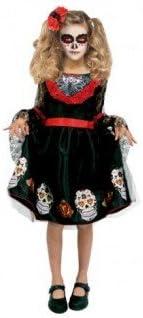 Partilandia Disfraz Catrina Calaveras para niña(2-4 años): Amazon ...