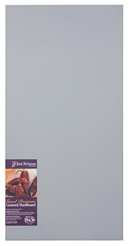 Jack Richeson 1611836 Richeson Mid-Tone Grey Toned Gessoed 1/8'' Hardboard 18''x36'' by Jack Richeson