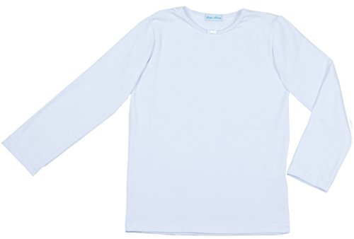 Petite Amelia Little Girls Long Sleeve Bow Tie - Girls Plain Long Sleeve Tshirts